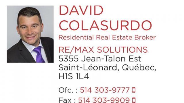 David Colasurdo – RE/MAX Solutions