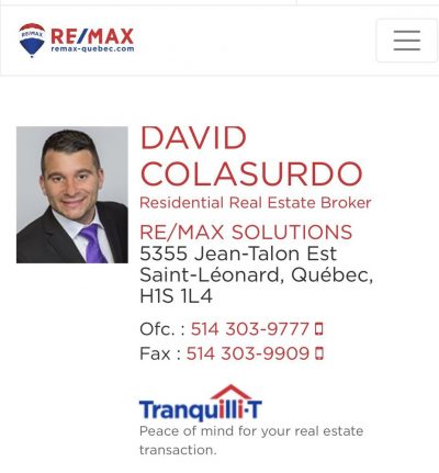 David Colasurdo – RE/MAX Solutions