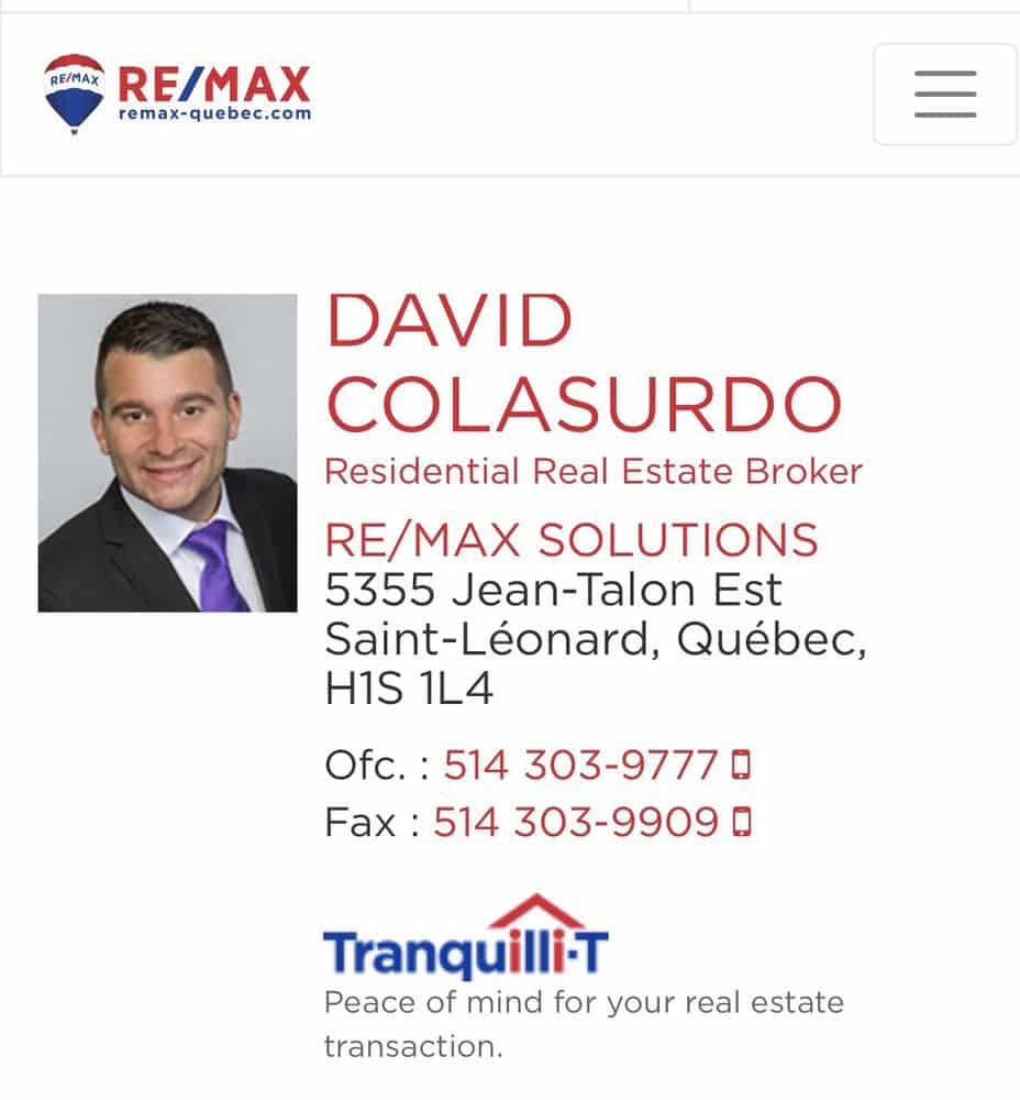 David Colasurdo - RE/MAX Solutions